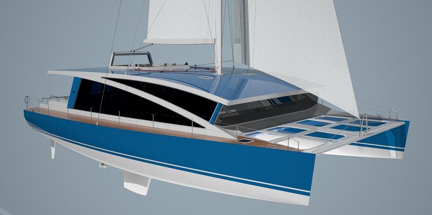 VK55cat Aluminum Sailing Catamaran For Charter Advanced