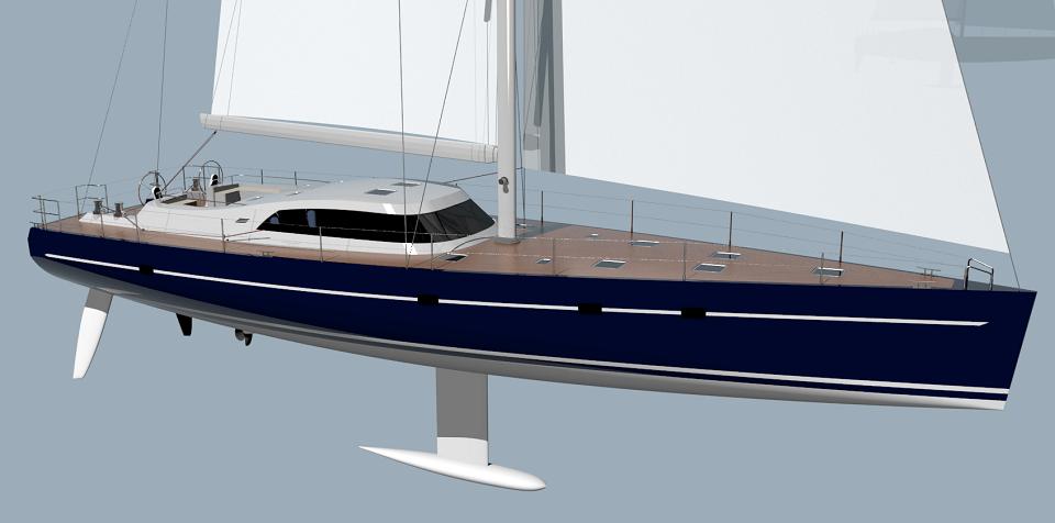 Vk65 Aluminum Performance Sailing Yacht Advanced Design